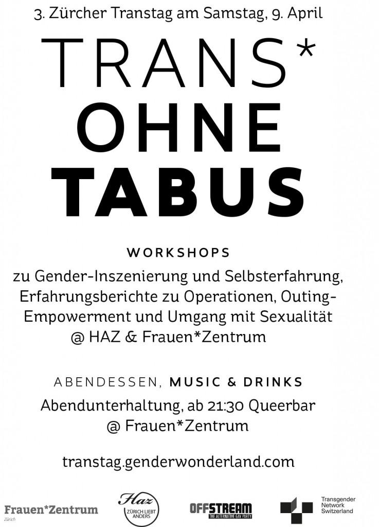 Flyer zum 3. Züricher Transtag